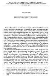 EINE MINOISCHE ETYMOLOGIE