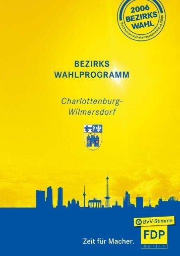 Das Bezirkswahlprogramm der FDP Charlottenburg-Wilmersdorf