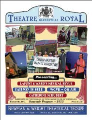 Theatre program - Theatre Royal