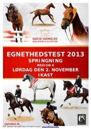 Katalog til egnethedstest region 6 den 2. november - Dansk Varmblod
