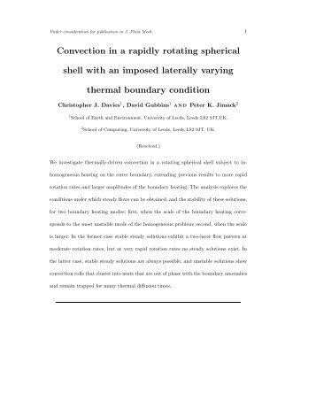 Convection in a rapidly rotating spherical shell with an imposed ...