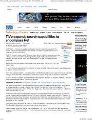TiVo expands search capabilities to encompass Net - USATODAY.com