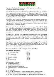 Montagsturnier vom 14.01.2013 - Spielbank Wiesbaden