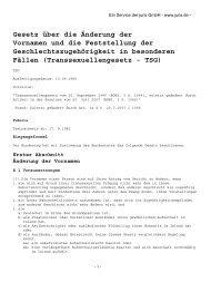 Gesetz über die Änderung der Vornamen und die Feststellung der ...