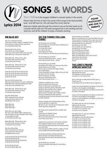 2014 Lyrics - Young Voices
