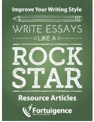 Write Essays Like a Rock Star—Resource Articles