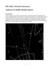 Analysis of a bubble chamber picture