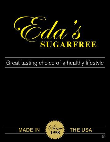 Great tasting choice of a healthy lifestyle - Eda's Sugarfree