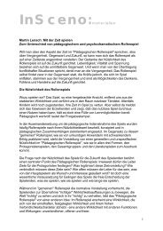 1 InSceno:materialien Martin Lensch: Mit der Zeit spielen Zum ...