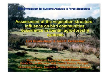 occurrence in Iberian agro-forestry systems - Ipef