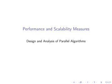 Performance and Scalability Measures