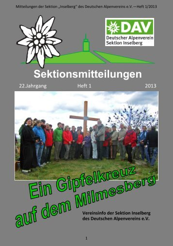 Mitteilungen 03/2013 >> Download - DAV Sektion Inselberg