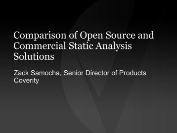 A Comparison of Open Source and Commercial Static Analysis ...