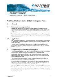 Advisory Circular, Issue 130A-2, 2011 - Maritime New Zealand