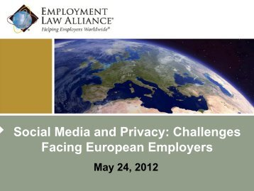 Social Media and Privacy - Employment Law Alliance