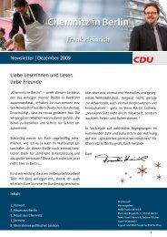 Newsletter | Dezember 2009 Liebe Leserinnen und ... - Frank Heinrich