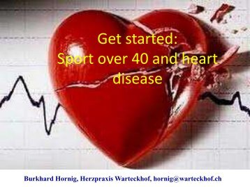 Get started: Sport over 40 and heart disease - Clinique le Noirmont