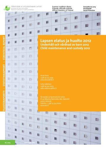Underhåll och vårdnad av barn 2012 - Julkari