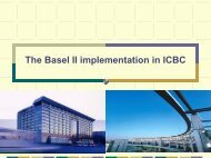The Basel II implementation in ICBC