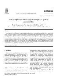 Low temperature annealing of amorphous gallium arsenide films