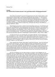 m Off. Zur Position des Kunstmuseums in der postindustriellen ...