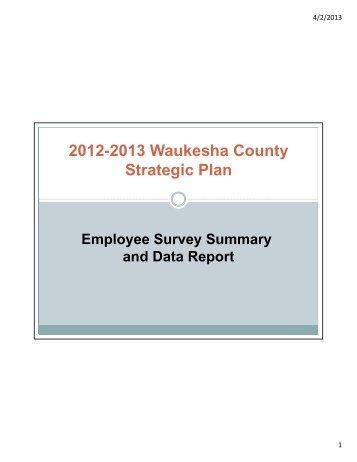 Employee Survey Summary - Waukesha County