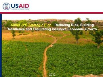 Sahel JPC Strategic Plan - Food Security Clusters