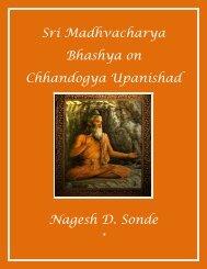 Sri Madhvacharya Bhashya on Chhandogya ... - Nagesh D. Sonde