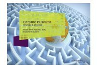 Enzyme Business – Strategy and activities - Novozymes