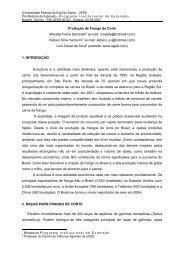 Produção de Frango de Corte - CEUNES - Universidade Federal do ...