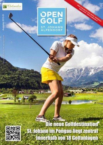 Clubmagazin 2013-01 - OPEN GOLF ST. JOHANN ALPENDORF
