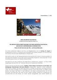 Pressemitteilung 7 2013 Die Gewinner des Film- und Fotowettbewerbs