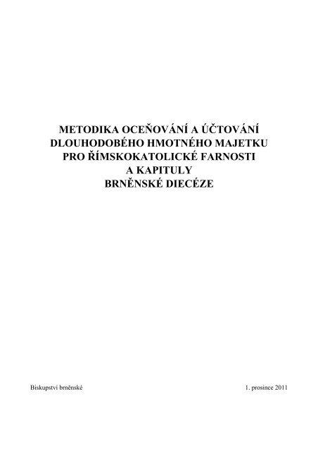 metodika oceňování a účtování dlouhodobého hmotného majetku ...