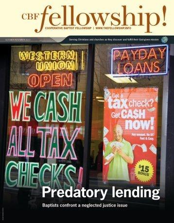 Predatory lending - Cooperative Baptist Fellowship Blog