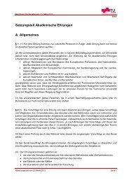 Satzungsteil Akademische Ehrungen A ... - mibla.TUGraz.at