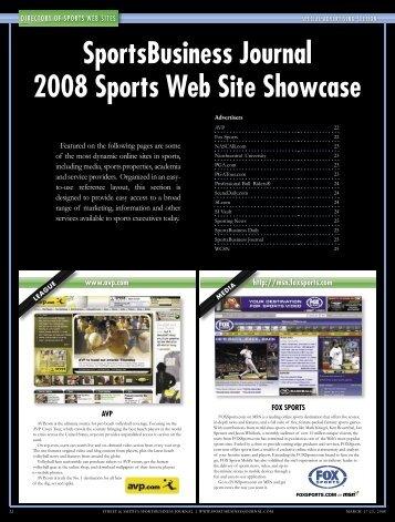 SportsBusiness Journal 2008 Sports Web Site Showcase