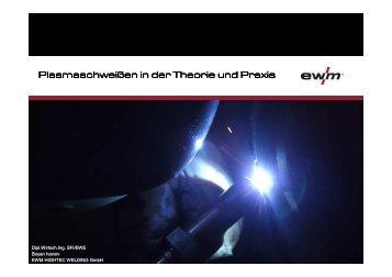 Plasmaschweißen in der Theorie und Praxis - DSL Schweisstechnik