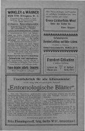 """Entomologisehe Blätter"