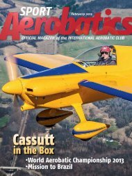 February 2013 - International Aerobatic Club