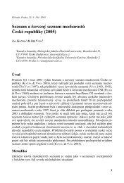 Seznam a červený seznam mechorostů České republiky (2005)