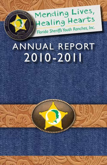 ANNUAL REPORT - Florida Sheriffs Youth Ranches