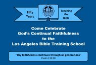 Come Celebrate God's Continual Faithfulness to the Los Angeles ...