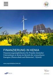 Finanzierungsstudie Erneuerbare Energien Kenia ... - ICON Institute