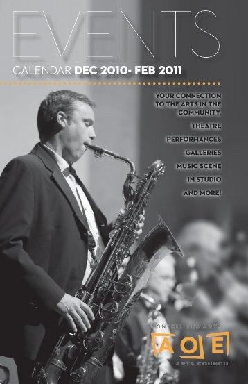 CALENDAR DEC 2010- FEB 2011