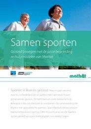 Klik hier voor onze samen sporten folder - Mathot Medische ...