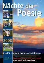 Programmheft 2008 - Nächte der Poesie