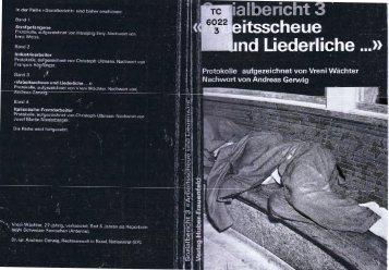 """Vreni Waechter: """"Arbeitsscheue und Liederliche..."""". - thata site"""