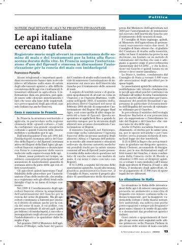 Le api italiane cercano tutela - Unaapi