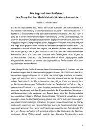 Die Jagd auf dem Prüfstand des Europäischen Gerichtshofs für ...