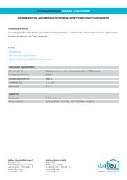 Produktdatenblatt doitBau® Anputzleiste Selbstklebende ...